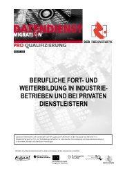 und weiterbildung in industrie - Pro Qualifizierung