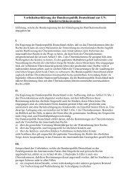 Vorbehaltserklärung der Bundesrepublik Deutschland zur UN ...