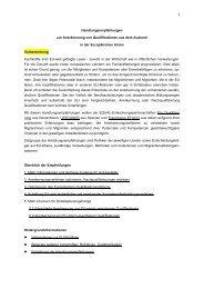 Handlungsempfehlungen zur Anerkennung von ... - Pro Qualifizierung