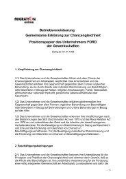 Vereinbarung Ford Werke AG - Migration-online