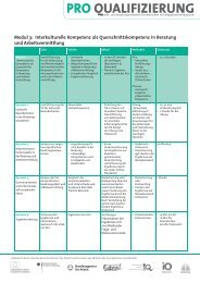 Modul 3: Interkulturelle Kompetenz als ... - Pro Qualifizierung