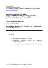 Vortrag Jochen Reitnauer, Kompetenzen ... - Pro Qualifizierung