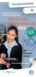 Woche der Weiterbildung 2012 - Pro Qualifizierung