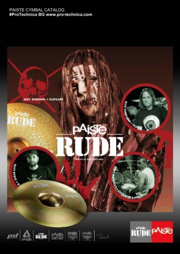 Paiste - Create your own Catalogue. - Pro-Technica