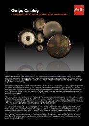 Gongs Catalog - Musicworld.bg