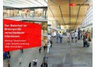 Der Bahnhof im Brennpunkt verschiedener ... - Pro Velo Schweiz