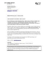Download Medienmitteilung - Pro Velo Schweiz