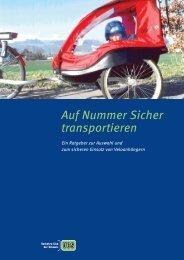 Auf Nummer Sicher transportieren - Pro Velo Schweiz