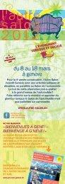 téléchargement du programme de L'autre Salon ... - Pro Velo Schweiz
