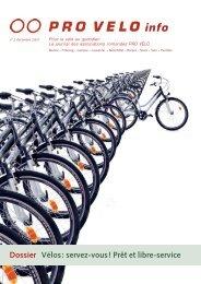 Vélos: servez-vous! Prêt et libre-service - Pro Velo Schweiz