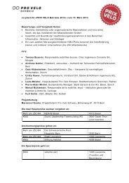 Jurybericht «PRIX VELO Betriebe 2013» vom 15 ... - Stiftung Habitat