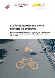 Surfaces partagées entre piétons et cyclistes - Pro Velo Schweiz