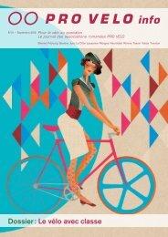 Dossier : Le vélo avec classe - Pro Velo Schweiz