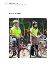 Rapport annuel 2012 - Pro Velo Schweiz