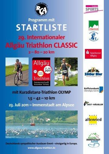StartliSte - Allgäu Triathlon Immenstadt