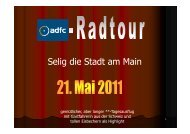 Selig die Stadt am Main - ADFC Bad Nauheim/Friedberg