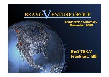 Bravo Venture Group One2One Investor Presentation 12 November