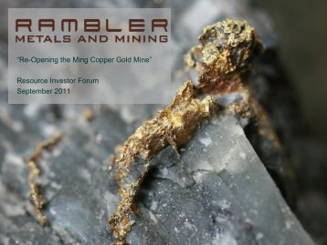 Rambler Metals & Mining Presentation - September 2011 - Proactive ...