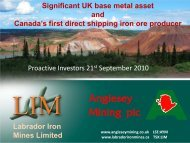 Anglesey Mining One2One Investor Presentation - Proactive Investors