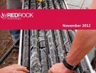 Red Rock Resources Investor Presentation November 2012