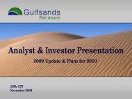 Analyst & Investor Presentation - Proactive Investors