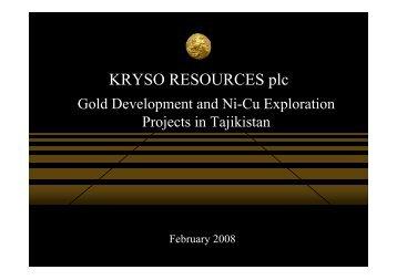 Kryso Resources investor presentation - Proactive Investors