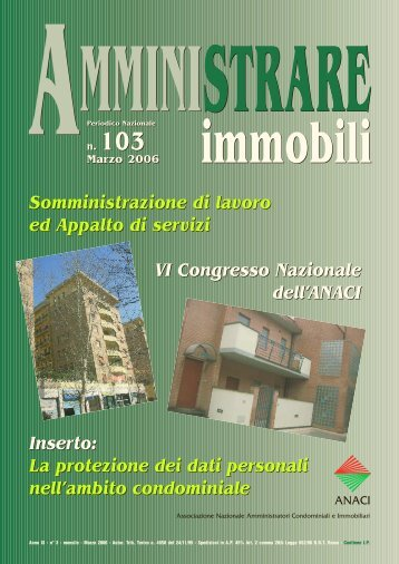 AMMINISTRARE IMMOBILI N° 103 - Anaci