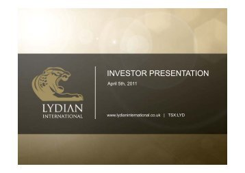 INVESTOR PRESENTATION - Proactive Investors