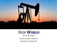 New World Oil & Gas Investor Presentation - Proactive Investors