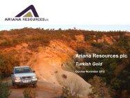 Ariana Resources Investor Presentation - Proactive Investors