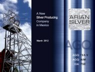 Arian Silver One2One Investor Presentation - 1st March - Proactive ...