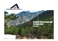 Ariana Resources plc - Proactive Investors