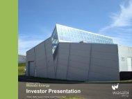 Wasabi Energy One2One Investor Presentation - Proactive Investors