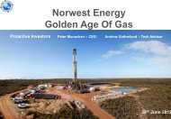 Norwest Energy One2One Investor Presentation - 28th June 2012