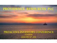 Providence Resources One2One Investor Presentation - Proactive ...