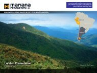 Mariana Resources One2One Investor Presentation 23rd May 2013