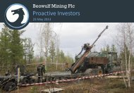 Beowulf Mining One2One Investor Presentation 23rd May 2013