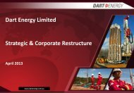 Dart Energy Restructure Presentation April 2013 - Proactive Investors