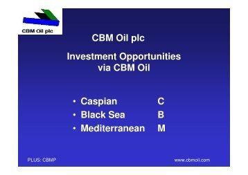 CBM Oil - Proactive Investors