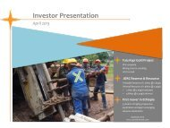 Investor Presentation April 2013 - Proactive Investors