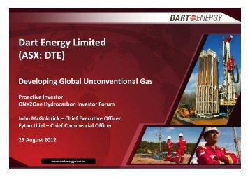 Dart Energy One2One Investor Presentation - Proactive Investors