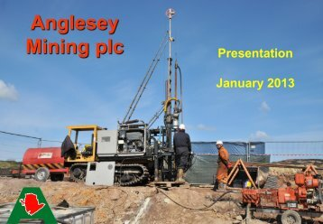 Anglesey Mining One2One Investor Presentation 30th January 2013