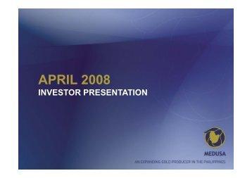 Medusa Mining Investor Presentation - Proactive Investors