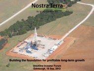 Nostra Terra Oil & Gas One2One Investor Presentation - Proactive ...