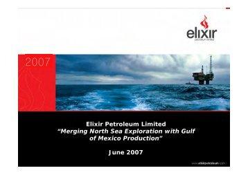 Elixir Petroleum - Proactive Investors