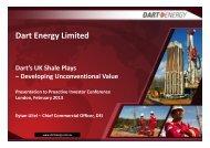 One2One – Dart Energy Investor Presentation - Proactive Investors