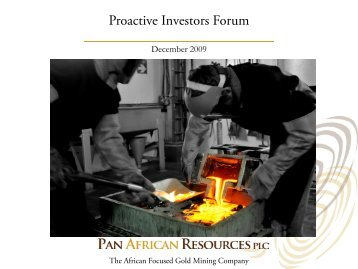 Pan African Resources One2One Investor Presentation 9 December