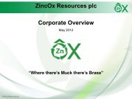 Zincox Resources Investor Presentation 17th May 2012 - Proactive ...