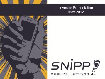 Corporate presentation Mar 2012 - Proactive Investors