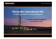 Petroceltic International One2One Presentation - Proactive Investors